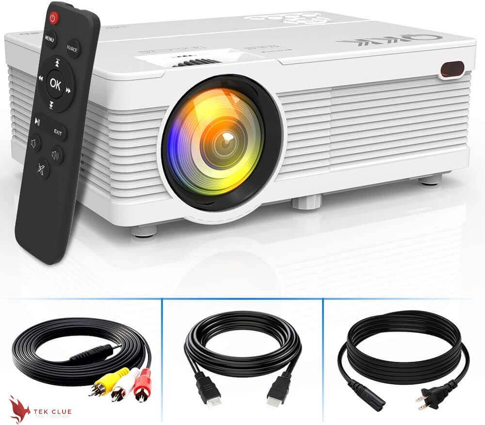 4500Lumens LCD Projector- Full HD 1080P Supported, Portable Mini Projector