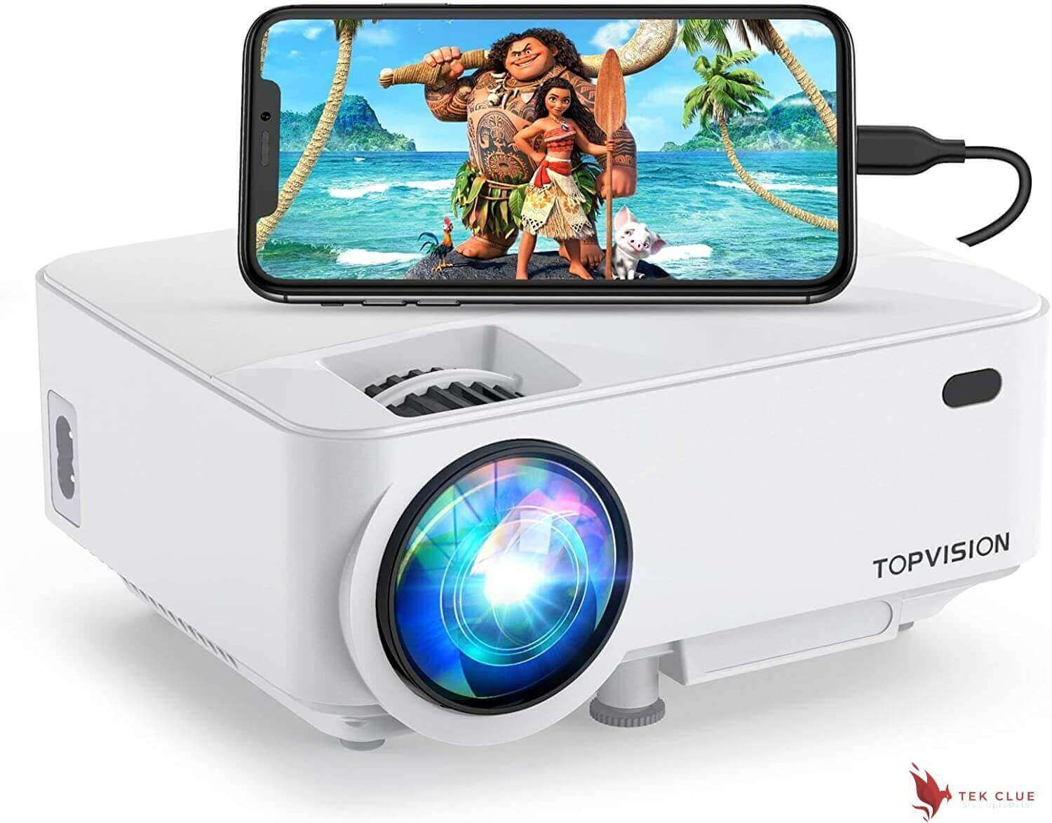Mini Projector, Top vision 5500LUX Outdoor Movie Projector