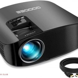 Projector, GooDee 2021 Upgrade HD Video Projector