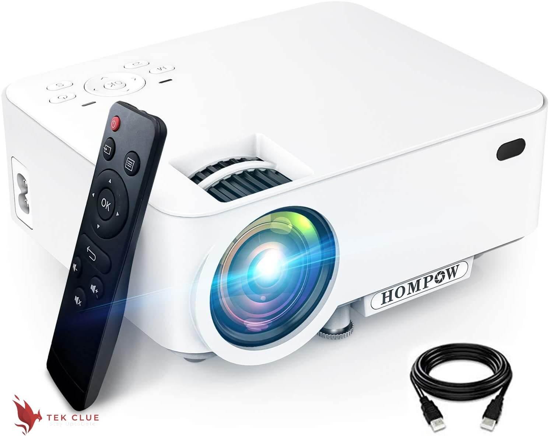 Mini Projector, H O M P O W 5500L Movie Projector