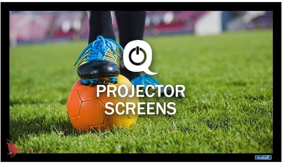 QualGear 100-Inch Fixed Frame Projector Screen