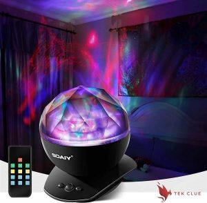 SOAIY Soothing Aurora LED Night Light Projector