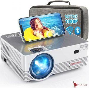 Native 1080P WiFi Bluetooth Projector