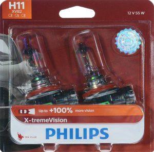 Philips Automotive Lighting H11 X-tremeVision Upgrade Headlight Bulb