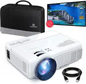 VANKYOMINI Leisure 3 Mini Projector & 100-inch Projector Screen