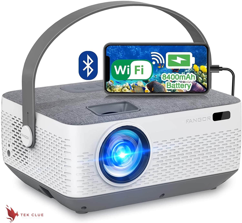 WiFi Projector Bluetooth 8400mAh Battery